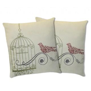 Lush Decor Dream Bird Green Decorative Pillows (Set of 2)