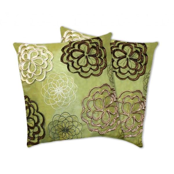 Lush Decor Covina Apple Green Decorative Pillows (Set of 2)