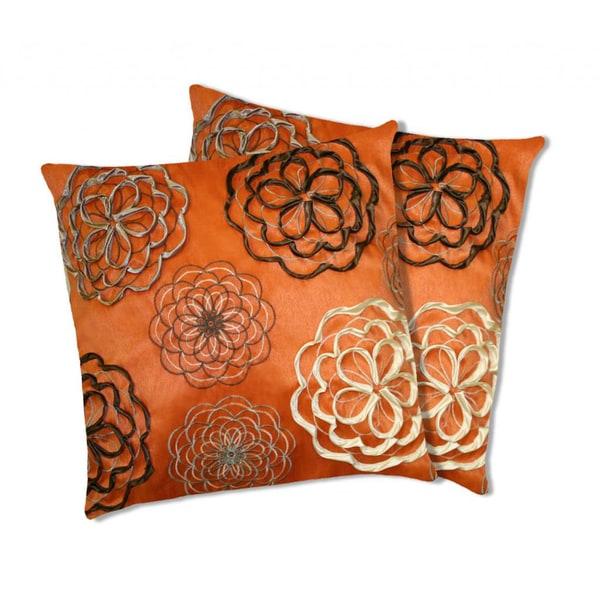 Lush Decor Covina Orange Decorative Pillows (Set of 2)
