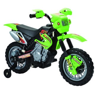 Happy Rider Green Ride-On Dirt Bike