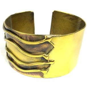 Handmade Brass Waves Cuff (South Africa)