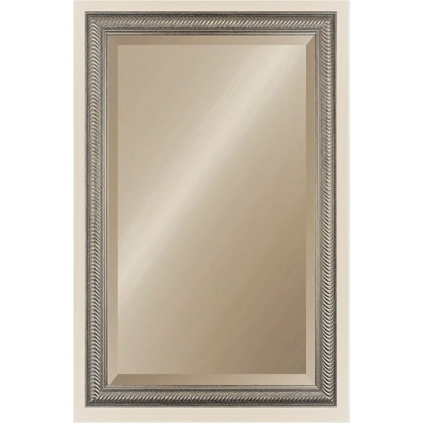 Wave Collection Etched Gold Framed Wall Mirror