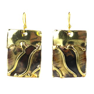 Handmade Waves Brass Earrings (South Africa)