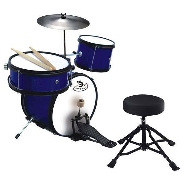 shop ready ace 5 piece junior professional drum set free shipping today 7901475. Black Bedroom Furniture Sets. Home Design Ideas
