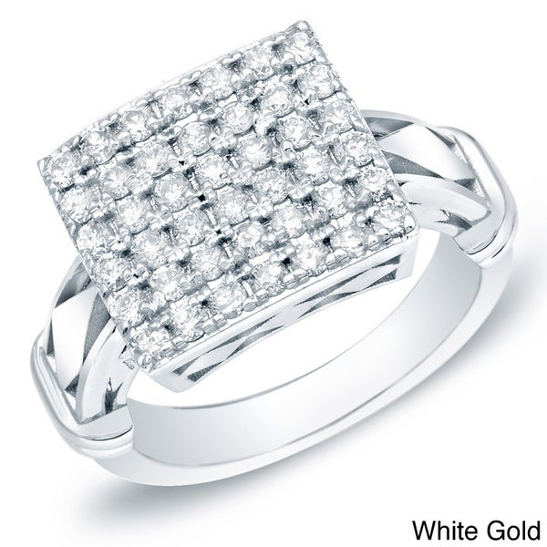 Auriya 14k Gold 1/2ct TDW Pave Diamond Ring