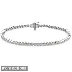 Auriya 14k Gold 1ct TDW Diamond Tennis Bracelet (J-K, I2-I3)
