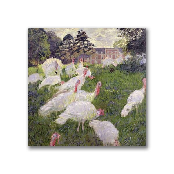 Claude Monet 'The Turkeys at the Chateau' Canvas Art