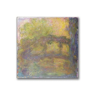 Claude Monet 'The Japanese Bridge, 1918-24' Canvas Art