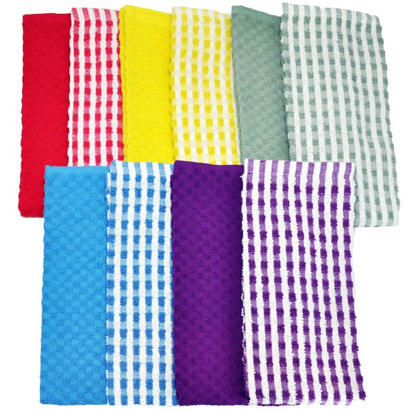 Cotton Terry Kitchen Towel 10 piece Set Free Shipping On