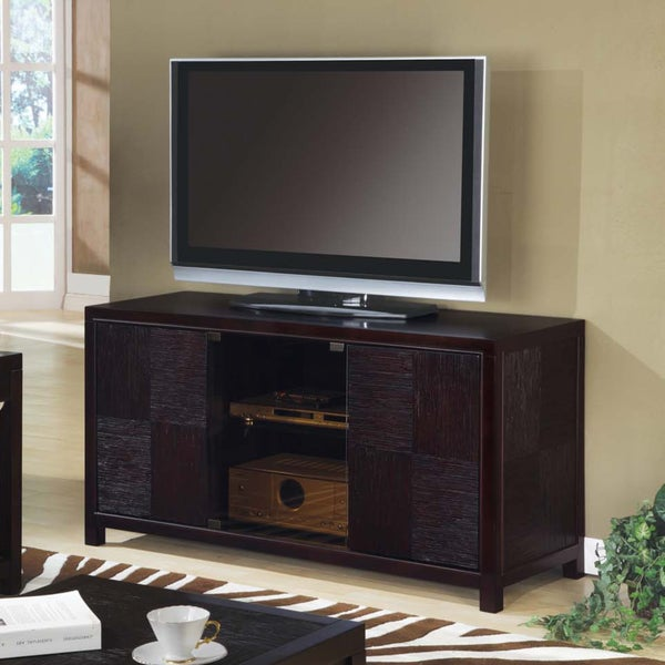 Cappuccino Veneer Assembled 54-Inch TV Console