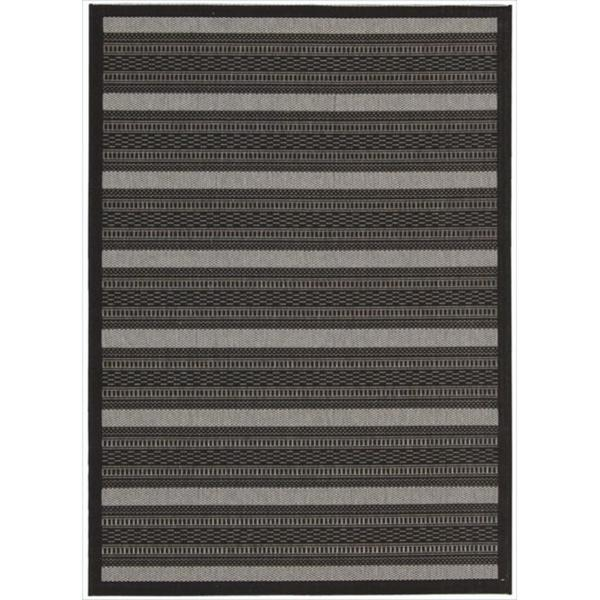 Eclipse Sophisticated Stripe Black Rug