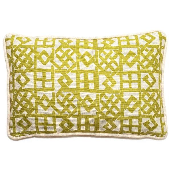 Corona Decor Lattice Pattern 17 x 11-inch Throw Pillow