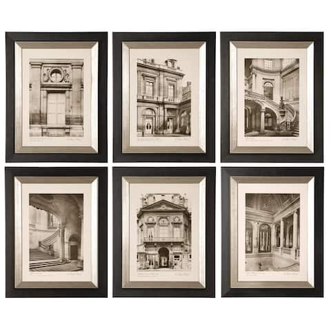 Uttermost Paris Scene Framed Art Set/6 - Green