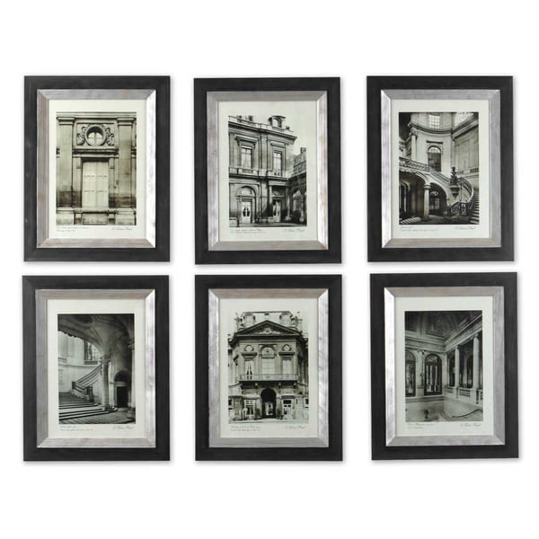 Uttermost paris scene framed art set 6