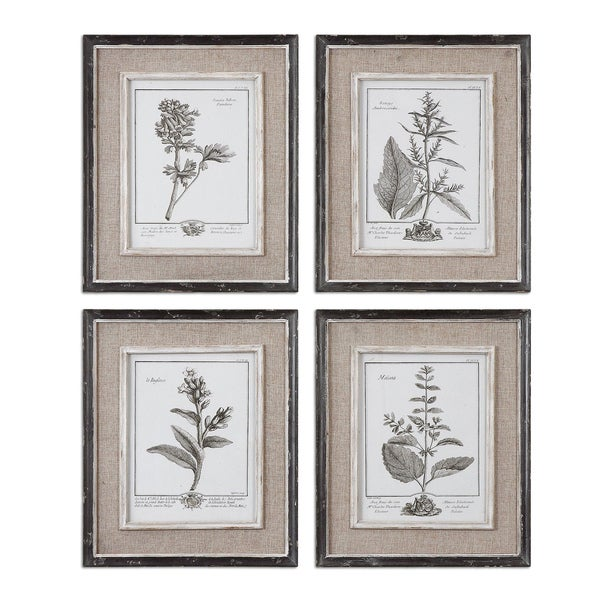 Uttermost Casual Grey Study Framed Art Set 4 15282625