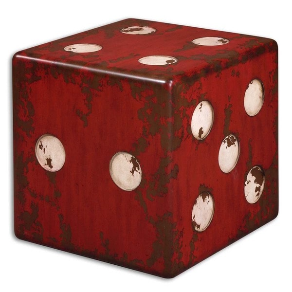 uttermost dice red accent table uttermost dice red accent table   free shipping today   overstock      rh   overstock
