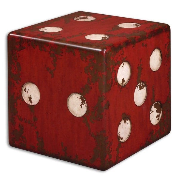 Medium image of uttermost dice red accent table