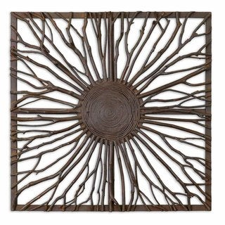 Link to Uttermost Josiah Square Wooden Wall Art Similar Items in Wall Sculptures