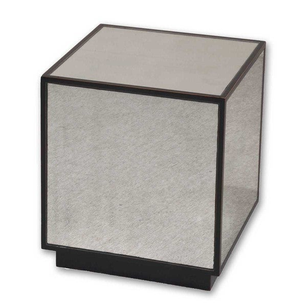 Genial Uttermost Matty Mirrored Cube Table