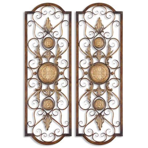 Uttermost Micayla Antique Metal Panels (Set of 2)