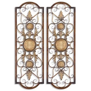 Uttermost Micayla Antique Metal Panels (Set of 2)