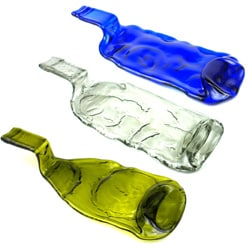Handmade Recycled Glass Bottle Tray (Chile)