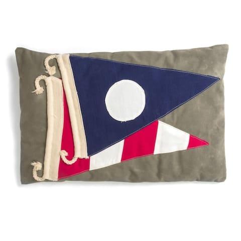 Cottage Home Signal Flag Cotton 16 x 24 Throw Pillow