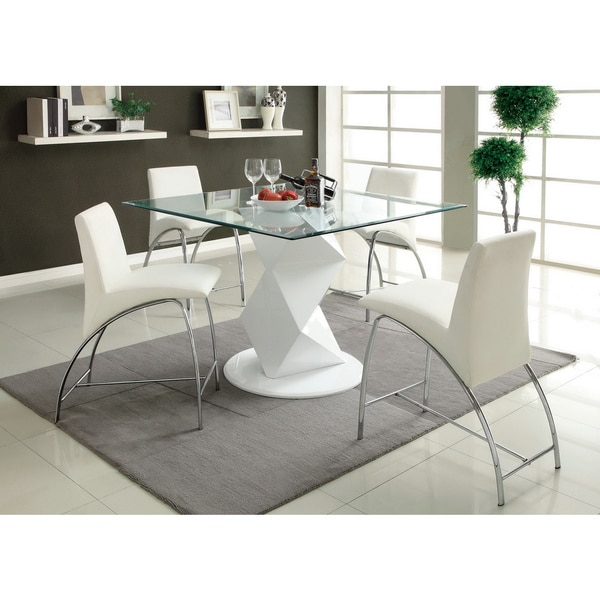 Furniture of America Picazzo Counter Height Dining Table