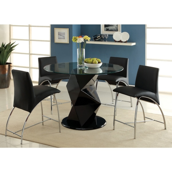 Furniture of America Picazzo 48-inch Round Counter Height Dining Table
