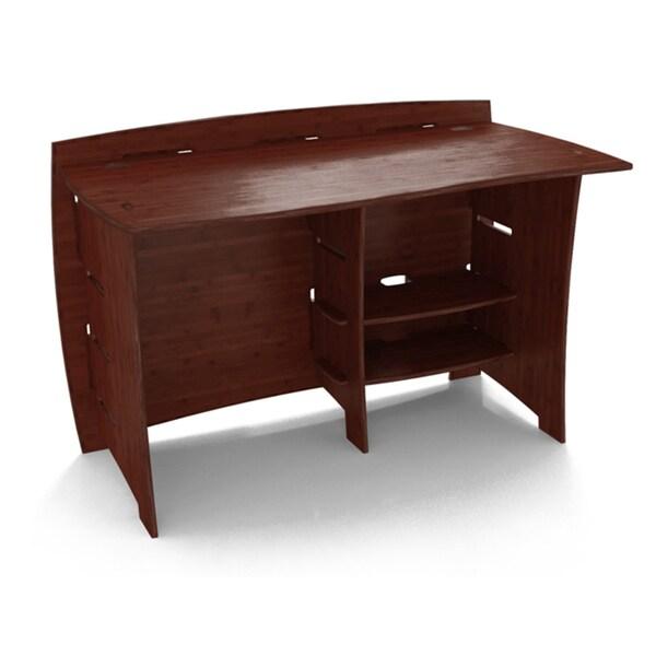 Legare Sustainable Bamboo 48 Inch Desk Espresso Free