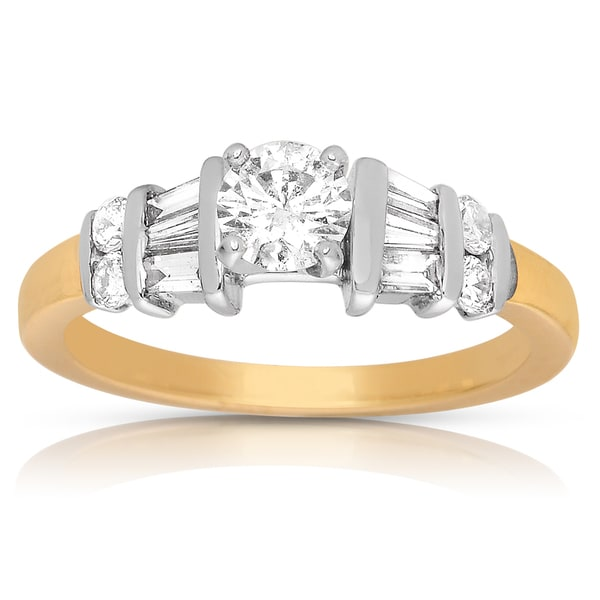 14k Two-tone Gold 7/8ct TDW Diamond Engagement Ring (I-J, I2-I3)