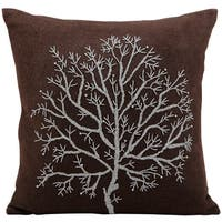 Mina Victory Luminescence Tree Of Life Brown Throw Pillow (20-inch x 20-inch) by Nourison