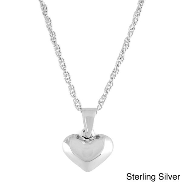 18-Inch Rhodium Plated Necklace with 6mm Sterling Silver Beads and Sterling Silver 5-Way Charm.
