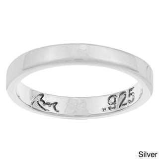 Sterling Essentials Sterling Silver Flat-edged Wedding Band (3.5 mm)