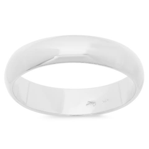 Sterling Essentials Sterling Silver Domed Wedding Band (5 mm)