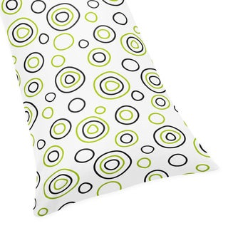 Sweet JoJo Designs Spirodot Lime and Black Full Length Double Zippered Body Pillow Case Cover