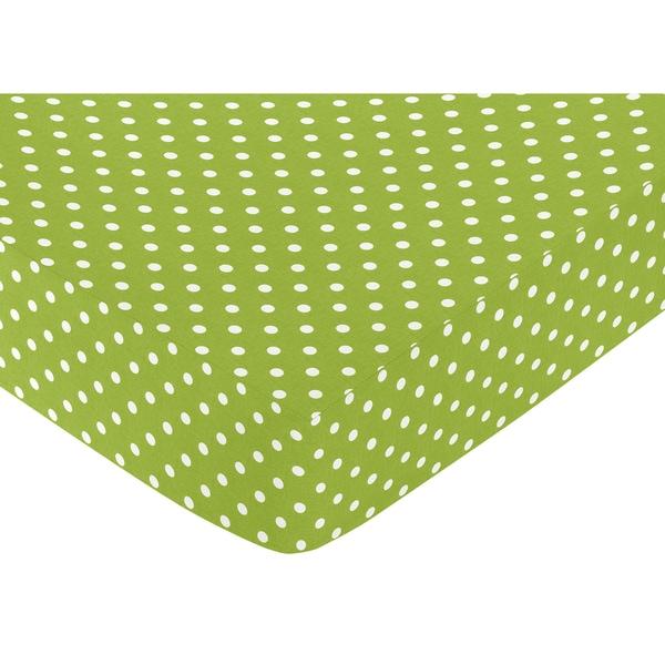 Shop Sweet Jojo Designs Polka Dot Fitted Crib Sheet Free
