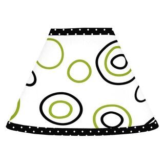 Sweet JoJo Designs Spirodot Lime and Black Lamp Shade