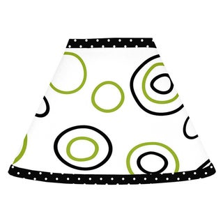 Sweet JoJo Designs Spirodot Lime and Black Lamp Shade