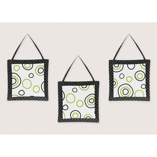 Sweet JoJo Designs Spirodot Lime and Black Wall Hanging Accessories