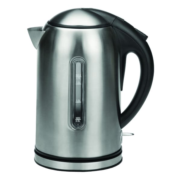 Kalorik Stainless Steel and Black Jug Kettle (Refurbished)
