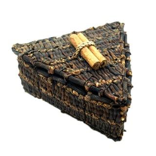 Handmade 3-inch Triangle Clove Box (Indonesia)