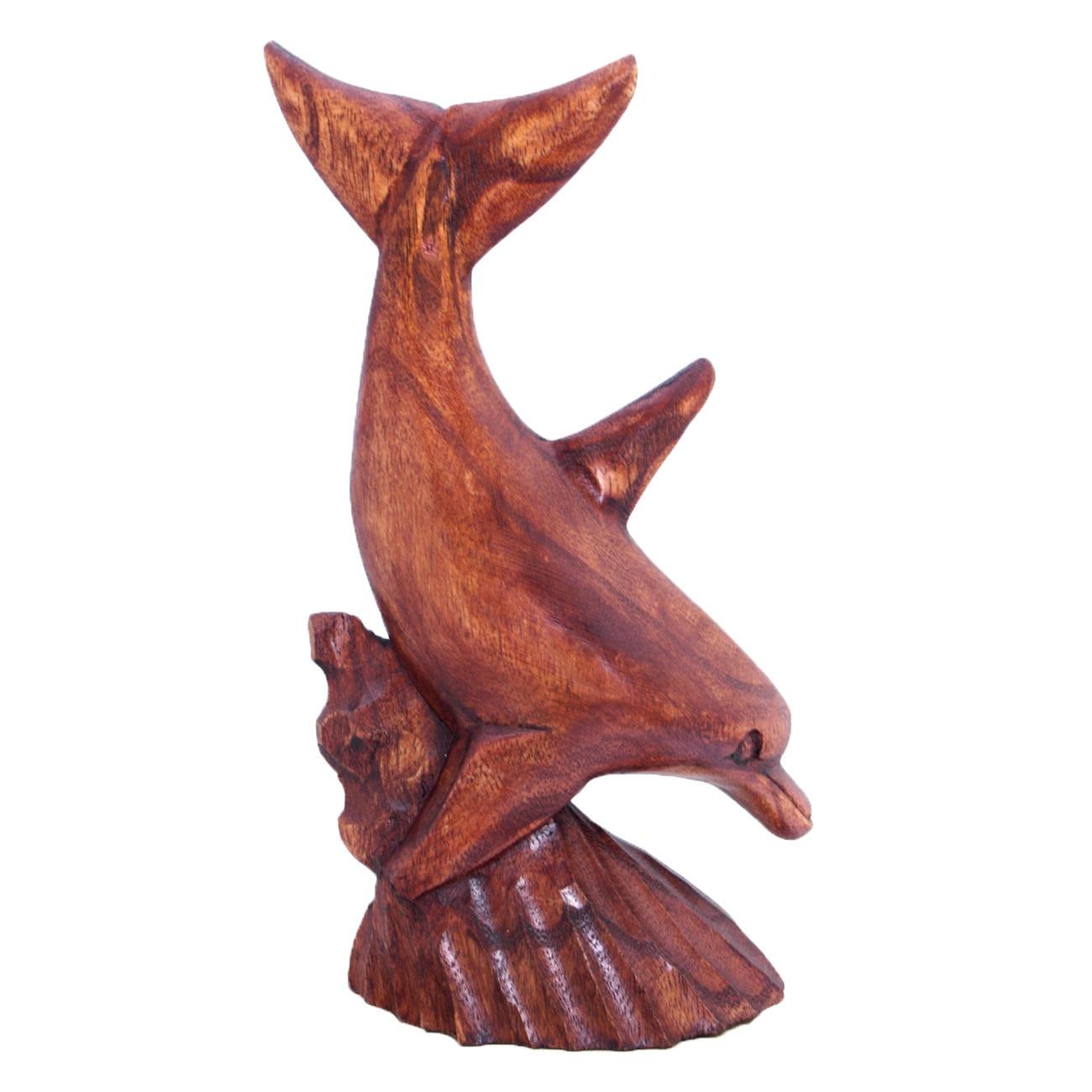 Handmade 8-inch Single Dolphin Figurine (Indonesia) (Dolp...