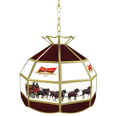 Budweiser 16 inch Tiffany Lamp Light Fixture