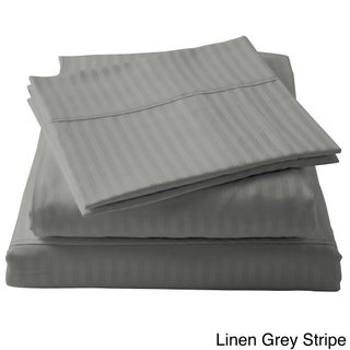 Brielle 100-percent Egyptian Cotton Sateen 630 Thread Count Sheet Set (4 options available)