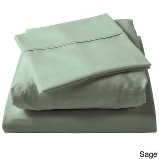 Brielle 100-percent Egyptian Cotton Sateen 630 Thread Count Sheet Set (Sage - Twin)