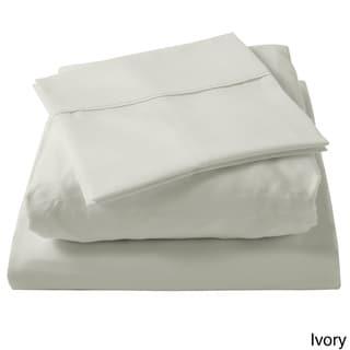 Brielle 100-percent Egyptian Cotton Sateen 630 Thread Count Sheet Set (Ivory - Queen)