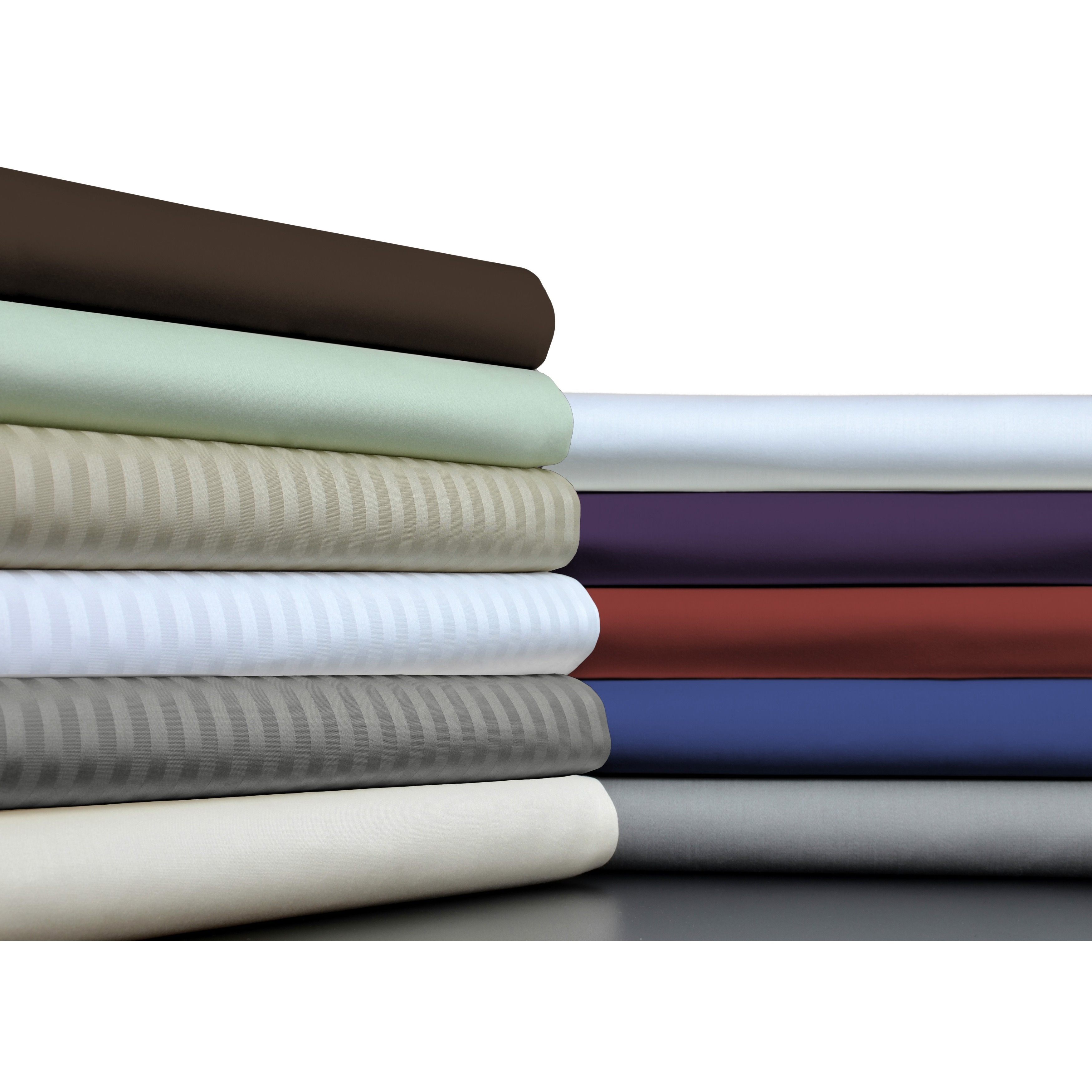 Brielle 100-percent Egyptian Cotton Sateen 630 Thread Count Sheet Set (Pillow Case (set of 2) - Standard Brick Red)