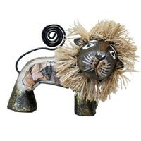 Handmade 4-inch Brown Lion Figurine (Indonesia)