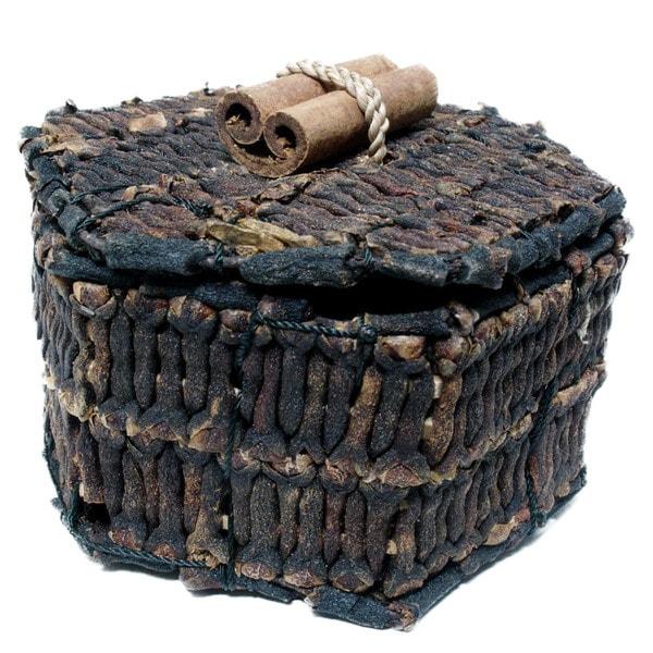 Handmade 3-Inch Pentagon Clove Box (Indonesia)